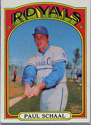 1972 Topps Baseball Cards      177     Paul Schaal